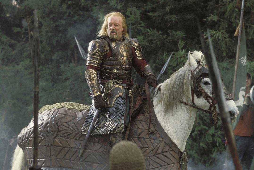 Erst durch Gandalfs Eingreifen findet König Theoden (Bernard Hill) wieder Hoffnung und stellt sich dem Kampf gegen Sauron ... - Bildquelle: Warner Bros.