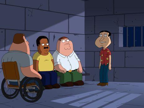Family Guy - Bei ihrer Suche nach dem schmutzigsten Witz landen Quagmire (r.)...