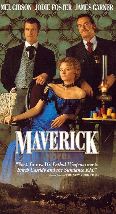 Maverick (Mel Gibson, l.) hört von einem Poker-Turnier, dessen Preisgeld sich auf eine stolze halbe Million Dollar beläuft, macht er sich sofort a... - Bildquelle: Warner Bros. Pictures
