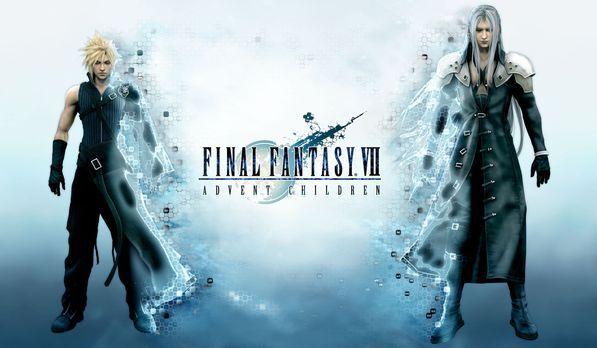Final Fantasy VII: Advent Children - Zwei Jahre nachdem Cloud (l.) den Kampf...