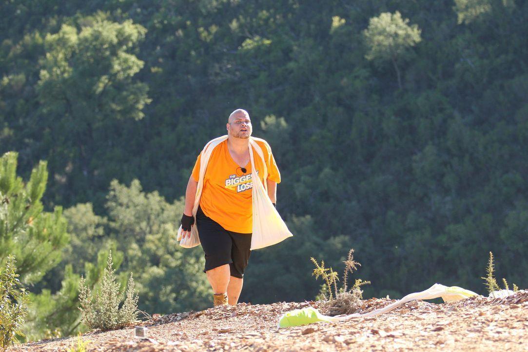 """Die sechste Woche von """"The Biggest Loser"""" beginnt schweißtreibend. In der Bergsteiger-Challenge müssen Jan und die anderen Kandidaten ihre letzten K... - Bildquelle: SAT.1/Enrique Cano"""