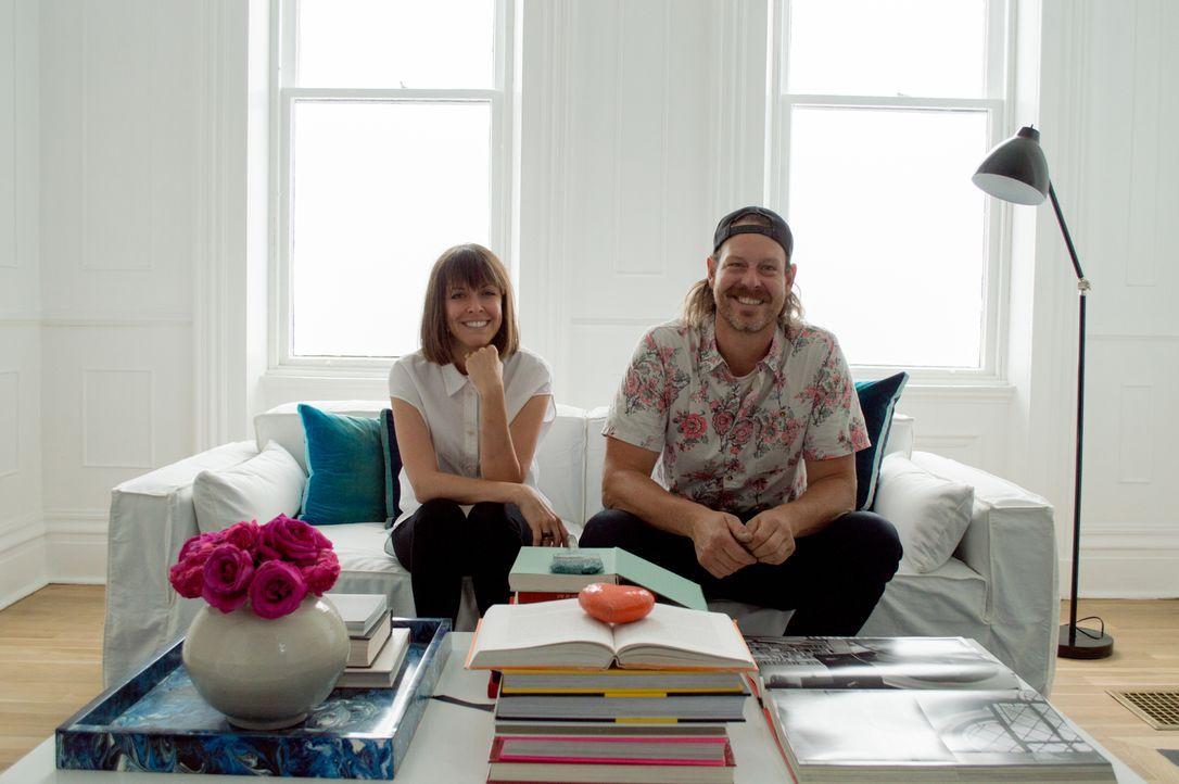 Die Geschwister Leanne (l.) und Steve Ford (r.) verwandeln eine düstere Immobilie in ein lichtdurchflutetes Traumhaus ... - Bildquelle: 2017, Scripps Networks, LLC. All Rights Reserved.