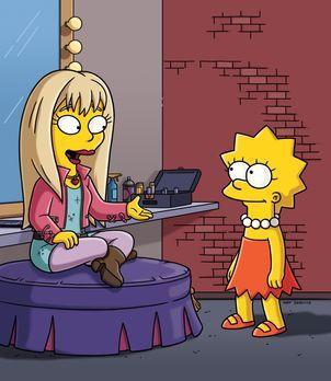 Die Simpsons - Lisa (r.) kann ihr Glück kaum fassen: Sie trifft tatsächlich d...