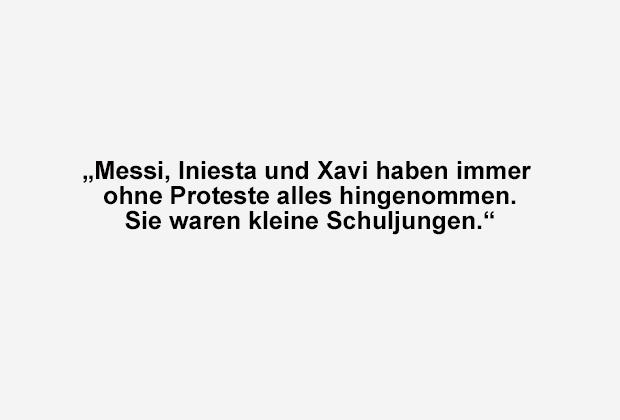 Zlatan über Messi, Iniesta und Xavi