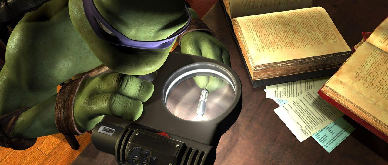 Donatello ist der Denker der vier mutierten Schildkröten, die von Master Splinter in die Kunst des Kampfsportes Ninjutsu eingewiesen wurden und jet... - Bildquelle: TOBIS Filmkunst GmbH