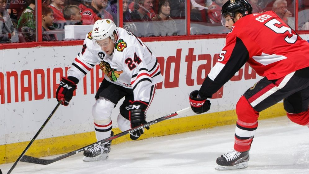 Kahun (l.) gelingt Torpremiere in der NHL - Bildquelle: GETTY IMAGES NORTH AMERICAGETTY IMAGES NORTH AMERICASIDJana ChytilovaFreestyle Photo