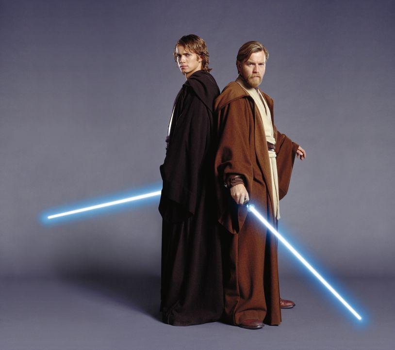 Wird der junge Jedi Anakin (Hayden Christensen, l.) seinem ehemaligen Mentor Obi-Wan Kenobi (Ewan McGregor, r.) tatsächlich den Rücken kehren und... - Bildquelle: Lucasfilm Ltd. & TM. All Rights Reserved.