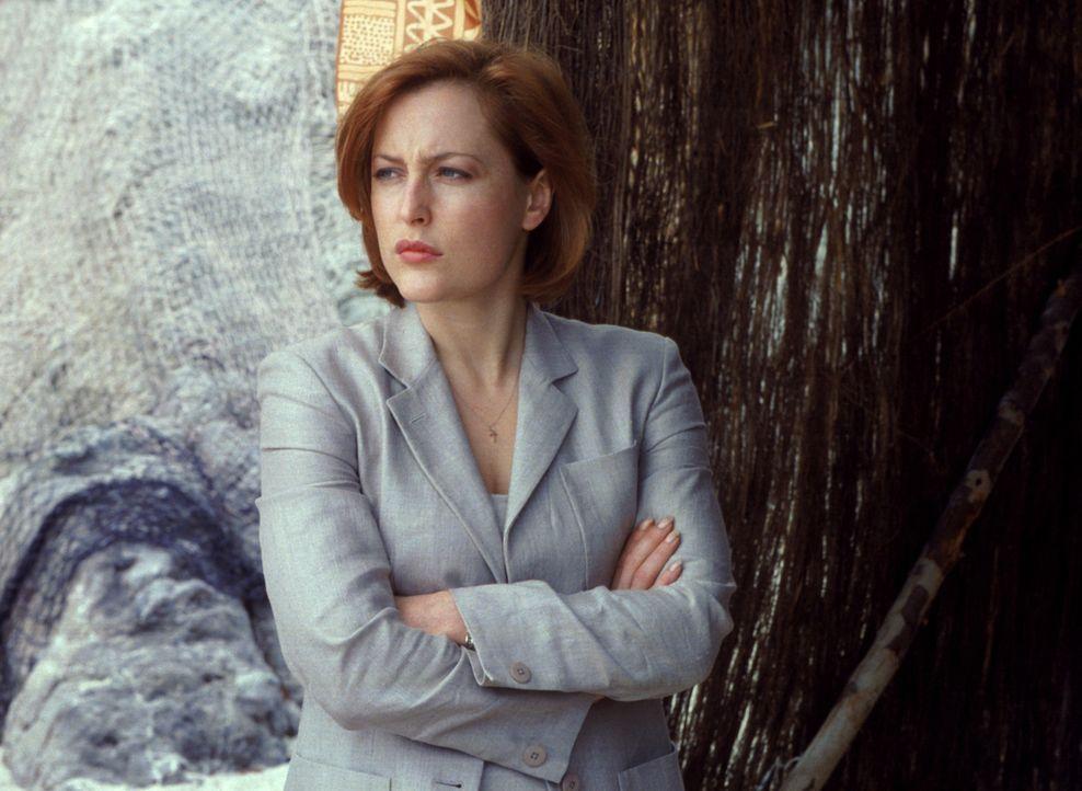 Zwei Wissenschaftler sind spurlos verschwunden. Skinner setzt Mulder und Scully (Gillian Anderson) auf den Fall an ... - Bildquelle: 1998-1999 Twentieth Century Fox Film Corporation.  All rights reserved.