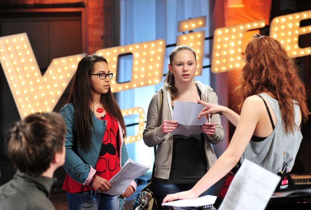 The-Voice-Kids-Stf02-Epi06-Lara-Lene-55-SAT1-Andre-Kowalski - Bildquelle: SAT.1/Andre Kowalski