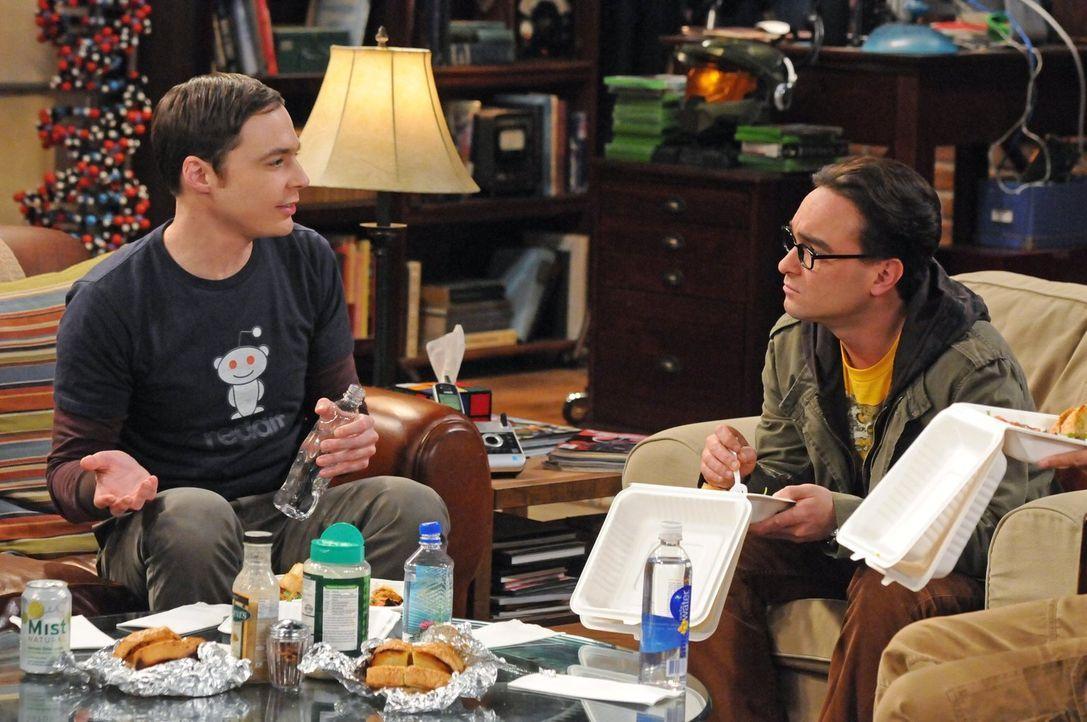 Sind sich nicht immer einig: Leonard (Johnny Galecki, r.) und Sheldon (Jim Parsons, l.) ... - Bildquelle: Warner Bros. Television