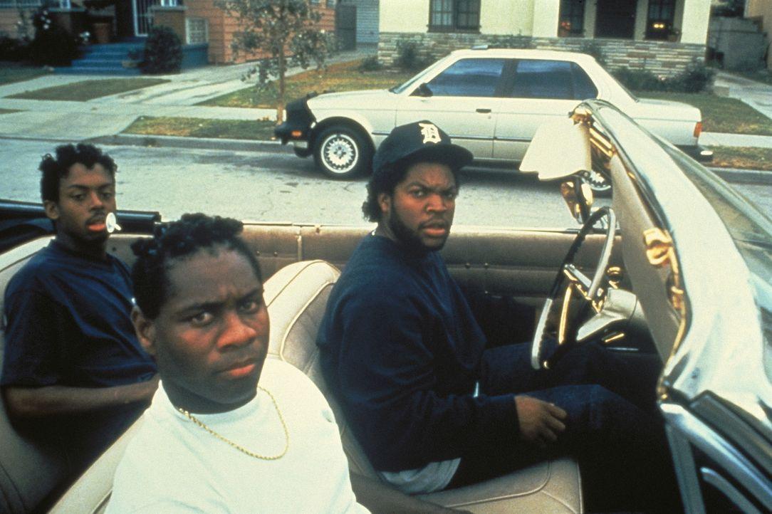 Dough Boy (Ice Cube, r.) macht mit seinen Boyz die Hood unsicher ... - Bildquelle: Columbia Pictures