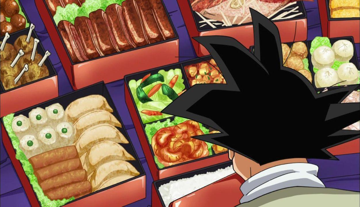 All die Leckereien - welche soll Son Goku bloß zuerst essen? - Bildquelle: BIRD STUDIO/SHUEISHA, TOEI ANIMATION