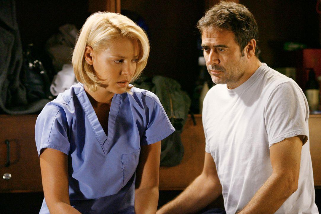 Izzie (Katherine Heigl, l.) ist fest davon überzeugt, mit den Erinnerungen an Denny (Jeffrey Dean Morgan, r.) abgeschlossen zu haben und schmiedet... - Bildquelle: Touchstone Television