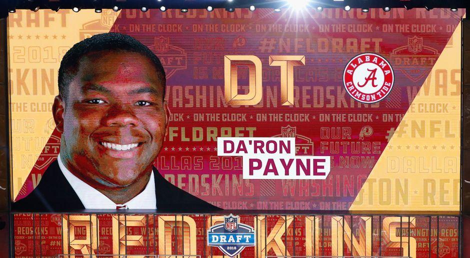 13. Pick - Washington Redskins: DT Da'Ron Payne - Bildquelle: getty