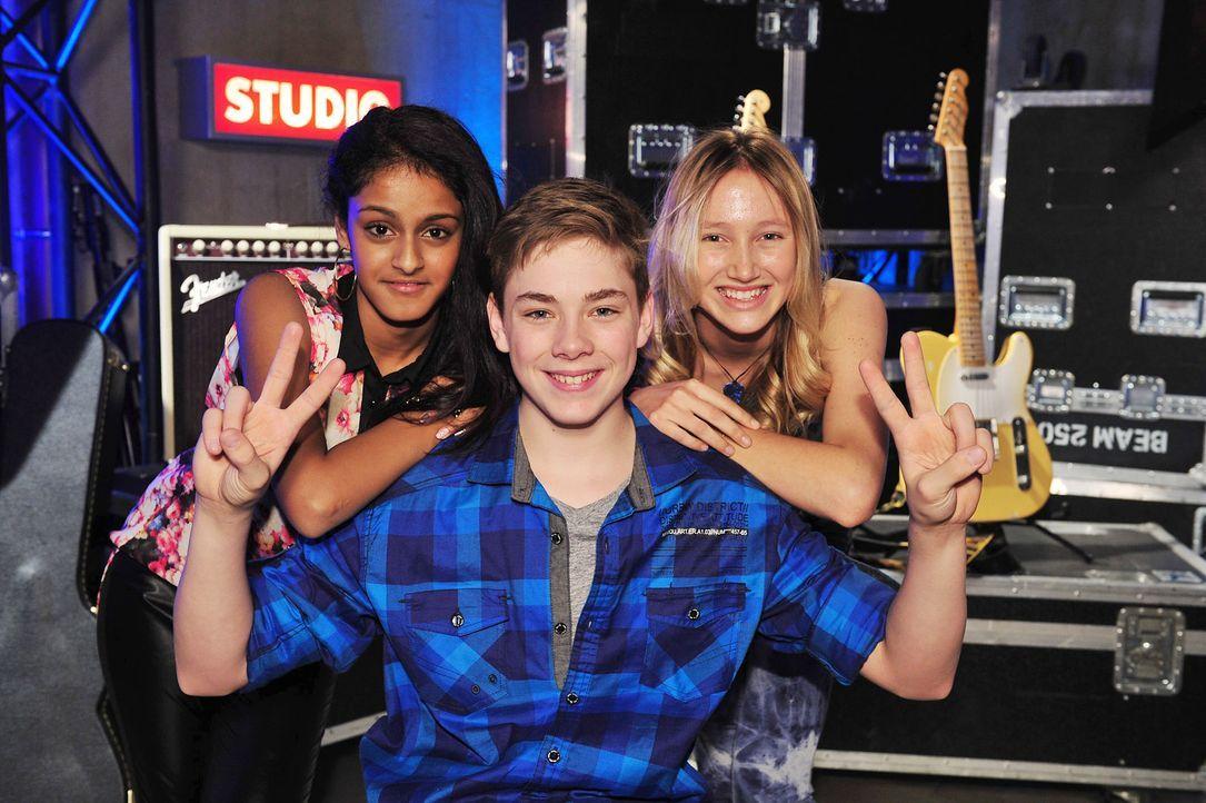 The-Voice-Kids-Stf02-Epi07-Sabeschni-Hannah-Samuel-4-SAT1-Andre-Kowalski - Bildquelle: SAT.1/Andre Kowalski