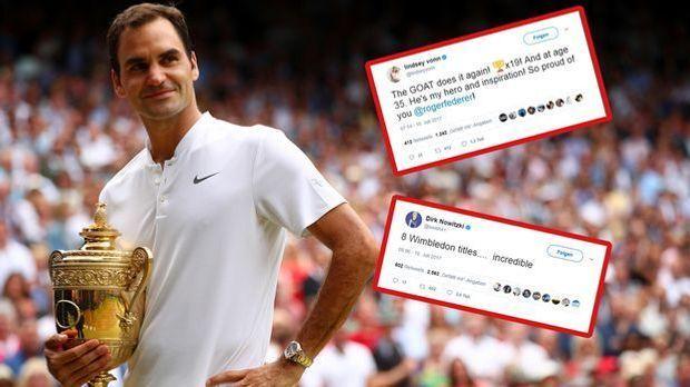 Roger Federer Netzreaktionen