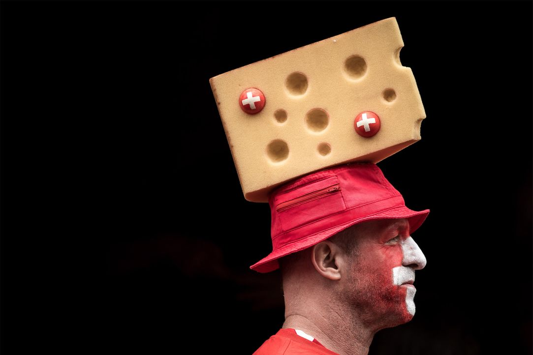 Switzerland supporter_Cheese_hat