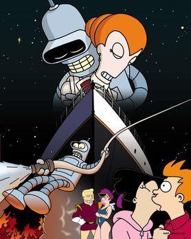 Futurama - Das erinnert an die gute alte Titanic: Auf einem Ferienrundflug du...