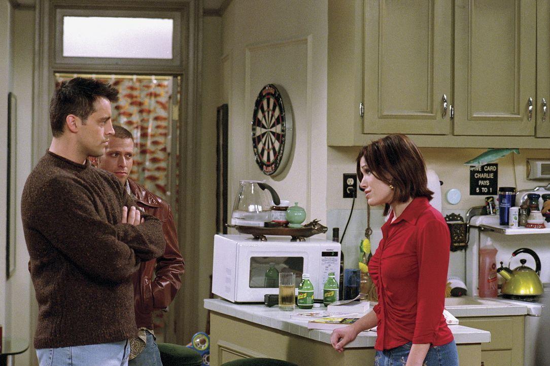 Joey (Matt LeBlanc, l.) ist entsetzt und fassungslos, als er erfährt, dass seine kleine Schwester Dina (Marla Sokoloff, r.) schwanger ist. Er beste... - Bildquelle: TM+  WARNER BROS.