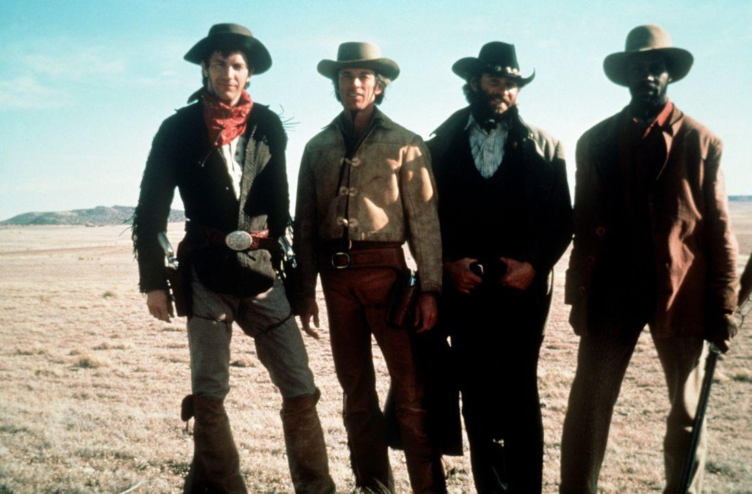 Das Schicksal führt die 'Glorreichen Vier', Jake (Kevin Costner, l.), seinen älterer Bruder Emmett (Scott Glenn, 2.v.l.), den Lebenskünstler Pade... - Bildquelle: Columbia Pictures