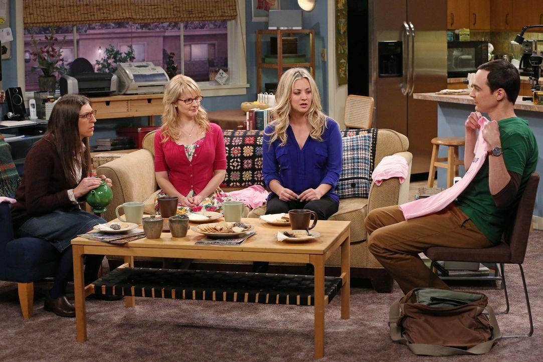 Leonard kapiert endlich, dass Alex ein Auge auf ihn geworfen hat und genießt das ganz offensichtlich. So offensichtlich, dass Sheldon (Jim Parsons,... - Bildquelle: Warner Bros. Television