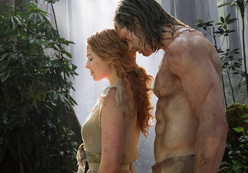 (v.l.n.r.) Jane Porter (Margot Robbie); Tarzan (Alexander Skarsgård) - Bildquelle: Warner Bros.