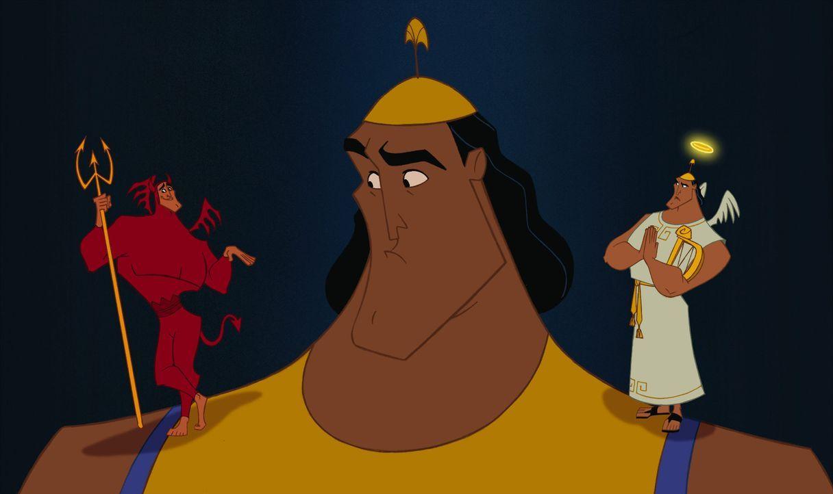 Auf wen wird der einfältige Kronk hören? Engelchen oder Teufelchen? - Bildquelle: Disney Enterprises Inc.