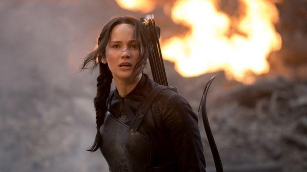 Ein Kampf auf Leben und Tod beginnt: Wird Katniss (Jennifer Lawrence) ihr Leb...