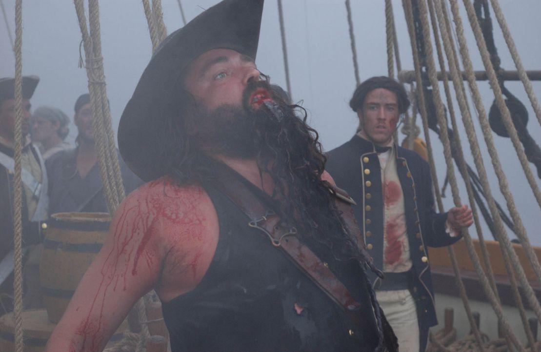 Am 22. November 1718 schlägt Kapitän Blackbeards (Angus MacFadyen) letzte Stunde ... - Bildquelle: Hallmark Entertainment