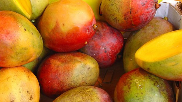 Fruchtige Mangos geben der Sauce einen frischen Kick
