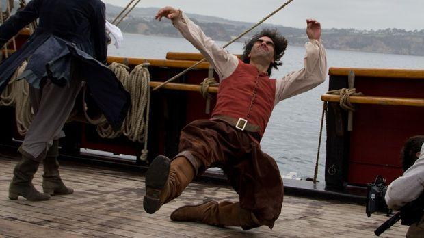 Sagenumwobener Pirat: Kapitän Kidd tötet auf einem Beutezug Geschützmeister W...