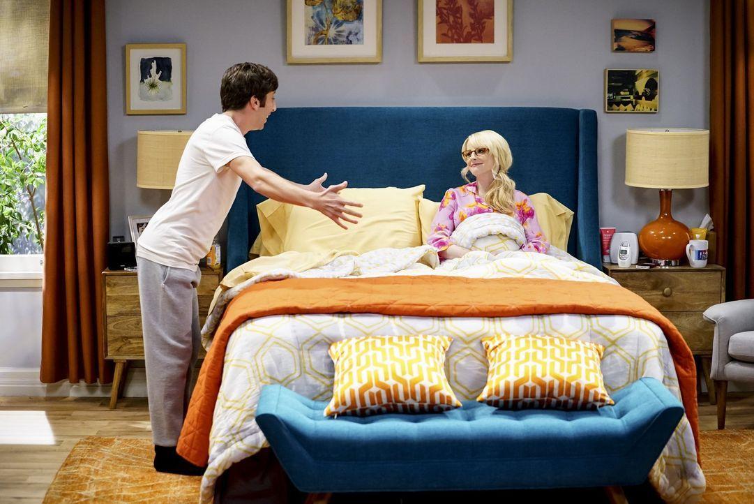Brauchen die Unterstützung einer ihrer Freunde: Howard (Simon Helberg, l.) und Bernadette (Melissa Rauch, r.) ... - Bildquelle: Warner Bros. Television
