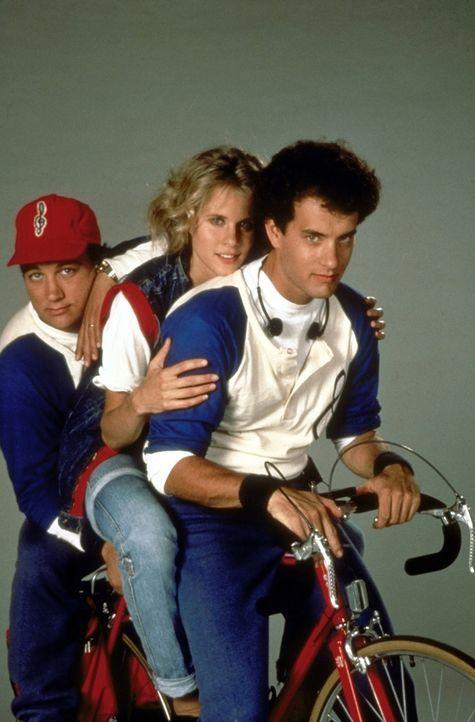 Richard (Tom Hanks, r.) ahnt nicht, dass sein Freund Morris (James Belushi, l.) ihm die Agentin Maddy (Lori Singer, M.) auf den Hals hetzt ... - Bildquelle: 20th Century Fox Film Corporation
