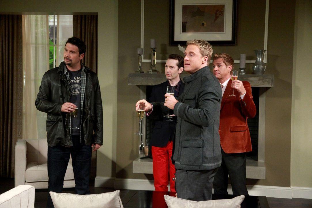Ein Männerausflug steht an: George (Jeremy Sisto, l.), Alex (Alex Boling, 2.v.l.), Noah (Alan Tudyk, 2.v.r.) und Tom (Todd Sherry, r.) ... - Bildquelle: Warner Bros. Television