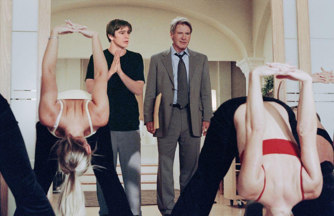 Während Joe Gavilan (Harrison Ford, r.) seine Arbeitszeit meist dem Immobiliengeschäft widmet, gibt K.C. Calden (Josh Hartnett, l.) schönen Fraue... - Bildquelle: 2003 Sony Pictures Television International. All Rights Reserved.