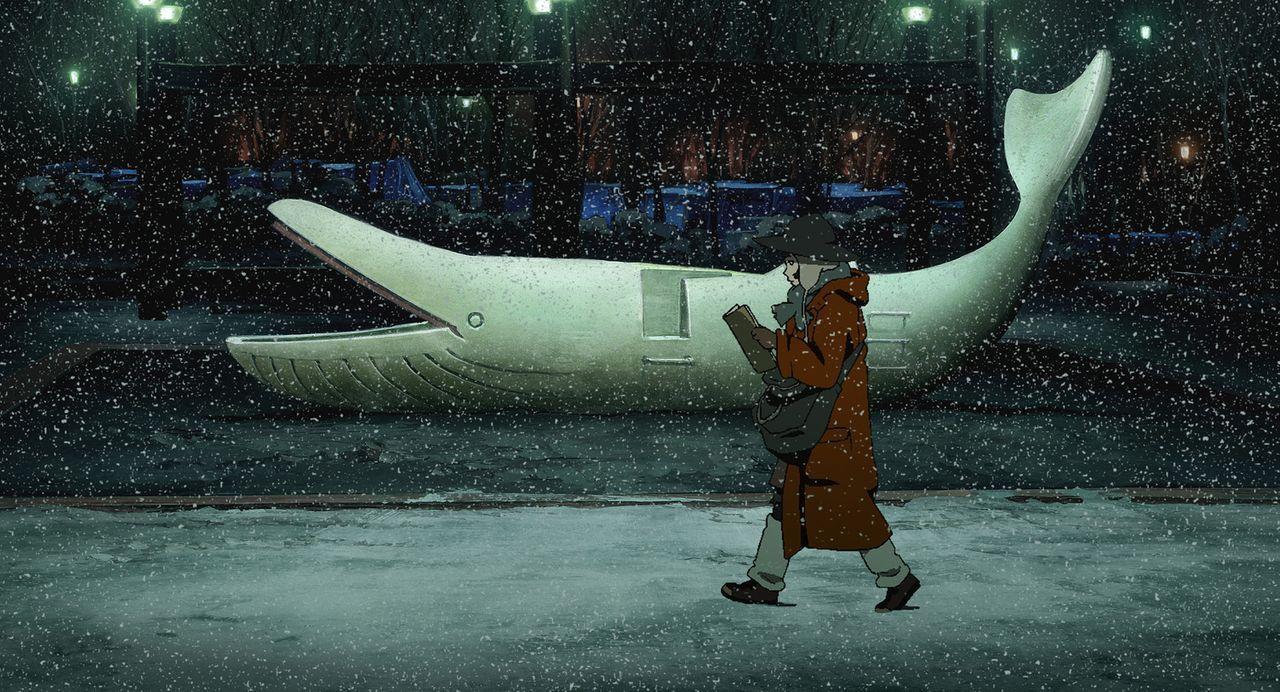 Nachdem das junge Mädchen Miyuki ihren Vater, einen Polizisten, im Streit mit einem Messer schwer verletzt hat, flüchtet sie in ein Leben auf der St... - Bildquelle: 2003 Satoshi Kon, Mad House and Tokyo Godfathers Committee. All Rights Reserved.