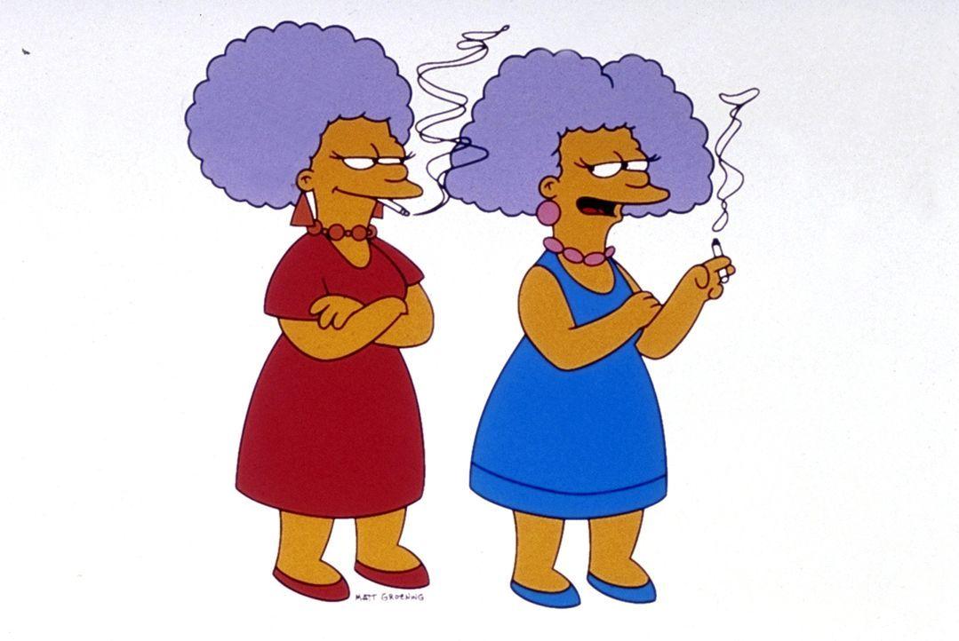 (9. Staffel) - Die unschlagbaren Schwestern von Marge: Patty Bouvier (l.) und Selma Bouvier (r.). - Bildquelle: und TM Twentieth Century Fox Film Corporation - Alle Rechte vorbehalten