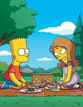 Die Simpsons - Die ausgesprochen brave und wohlerzogene Jenny (r.) hat Bart (...