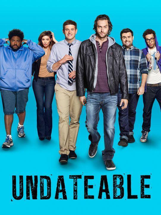 (1. Staffel) - UNDATEABLE: (v.l.n.r.) Shelly (Ron Funches), Leslie (Bianca Kajlich), Justin (Brent Morin), Danny (Chris D'Elia), Brett (David Fynn)... - Bildquelle: Warner Brothers
