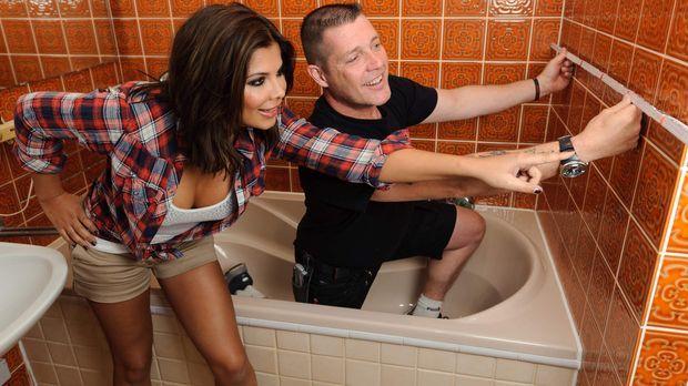 Ex-Bro'Sis-Sängerin Indira Weis (l.) will das Badezimmer ihrer Eltern umgesta...