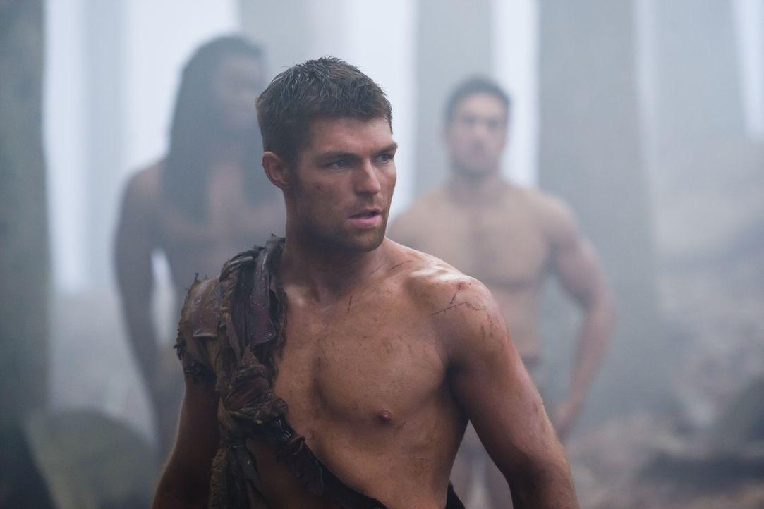 Begibt sich auf ein Himmelfahrtskommando: Spartacus (Liam McIntyre) ... - Bildquelle: 2011 Starz Entertainment, LLC. All rights reserved.
