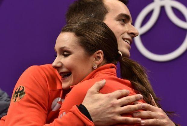 Im Kür-Finale: Annika Hocke und Ruben Blommaert