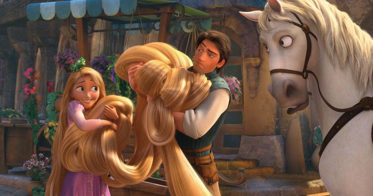 Ganz schön haarig: Für Rapunzel (l.) wird ihr erster Ausflug in die große weite Welt zum aufregenden Abenteuer. Zum Glück hat sie den gewieften Dieb... - Bildquelle: Disney.  All rights reserved