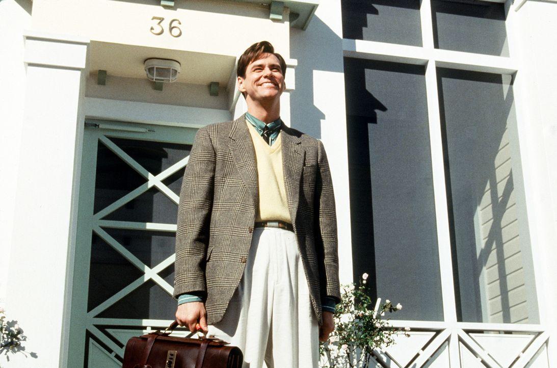Bereits als Baby von einem Fernsehsender adoptiert, um in der Fernsehwelt geboren zu werden, zu leben und vielleicht auch zu sterben: Truman Banks (... - Bildquelle: Paramount Pictures