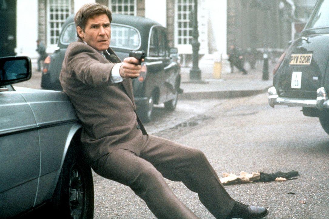 Nachdem der ehemalige CIA-Agent Jack Ryan (Harrison Ford) einen Mordanschlag auf die königliche Familie verhindert hat, haben ihn die entkommenen I... - Bildquelle: Paramount Pictures