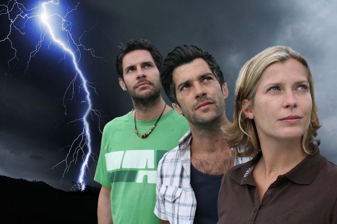 v.l.n.r.: Bernie (Manuel Witting), Tom (Xaver Hutter) und Andrea (Valerie Niehaus) - Bildquelle: Sat.1