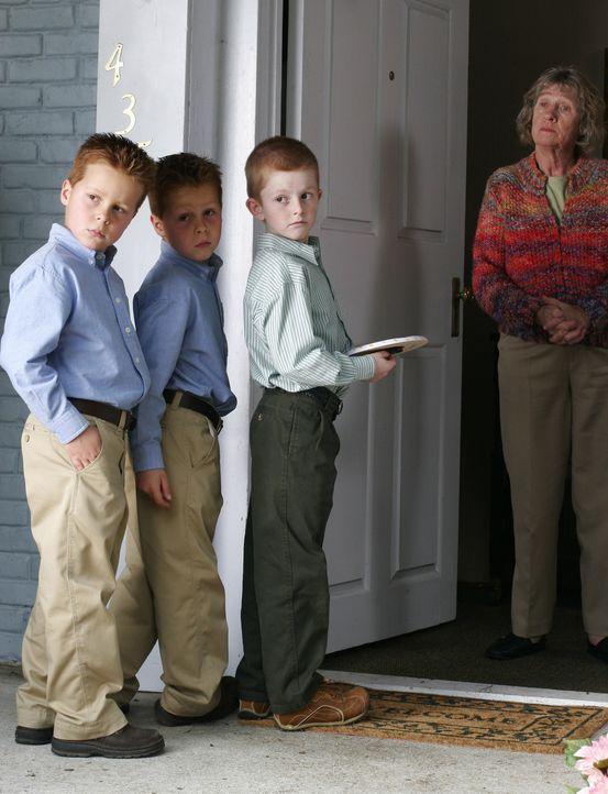 Lynette hat mal wieder Probleme mit ihren Jungs (Brent Kinsmann, Shane Kinsman und Zane Huett, r.). Aber diesmal sind sie wirklich zu weit gegangen,... - Bildquelle: Touchstone Television