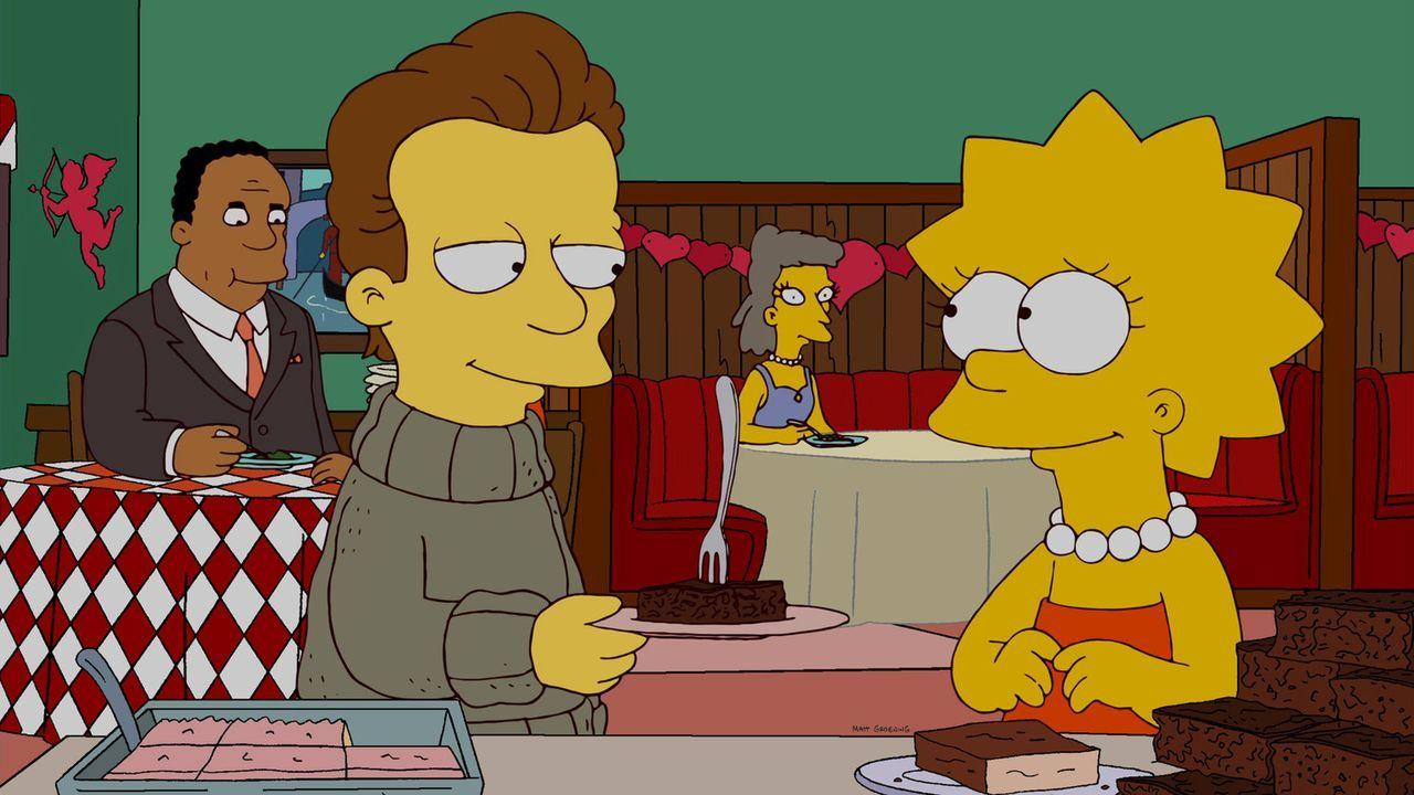 """Lisa (r.) lernt einen jungen Autor namens Nick (l.) kennen, der ihrer Meinung nach sehr """"hemingwayisch"""" ist und verliebt sich Hals über Kopf in ihn... - Bildquelle: und TM Twentieth Century Fox Film Corporation - Alle Rechte vorbehalten"""