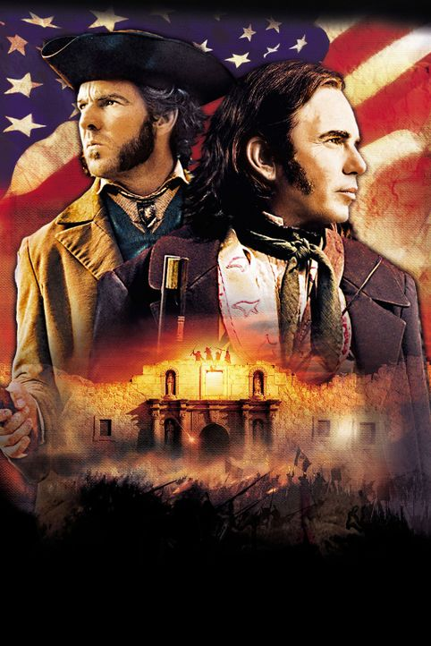 1836. Als der angebliche Kriegsheld und Kongressabgeordnete Davy Crockett (Billy Bob Thornton, r.) und der alkoholkranke General Sam Houston (Dennis... - Bildquelle: Disney - ABC International Television