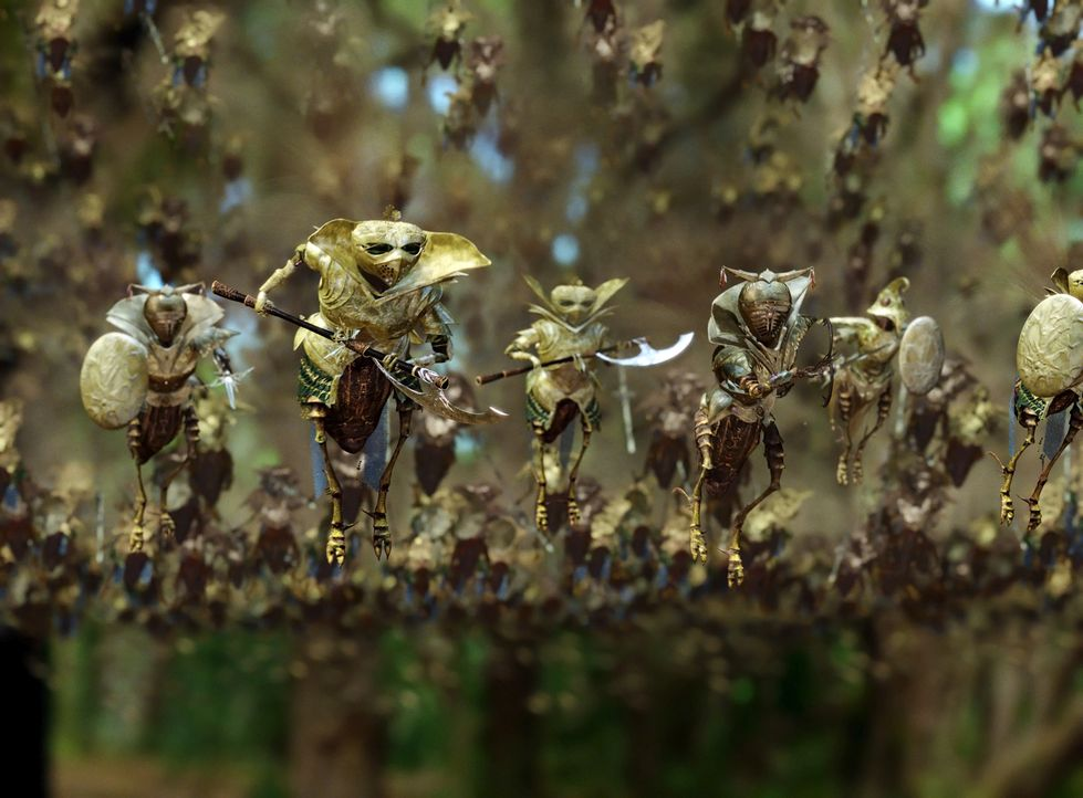 """In einem nahe gelegenen Wald schaffen sich die beiden elfjährigen Freunde Jess und Leslie eine Phantasiewelt, die sie """"Terabithia"""" nennen. Ein magis... - Bildquelle: 2006 Constantin Film, München"""